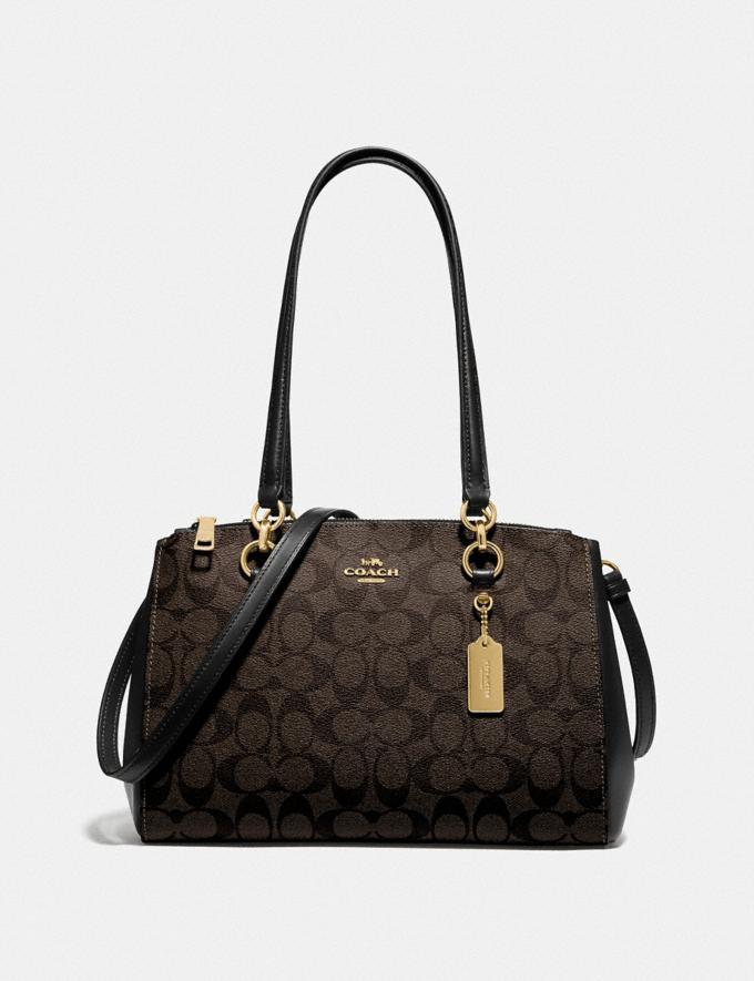 Coach Etta Carryall in Signature Canvas Brown/Black/Gold Women Bags