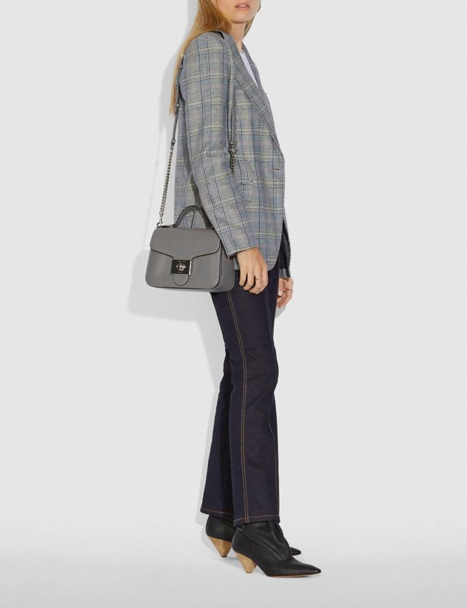 Coach Cassidy Top Handle Crossbody Sv/Heather Grey Bags Crossbody Bags Alternate View 2