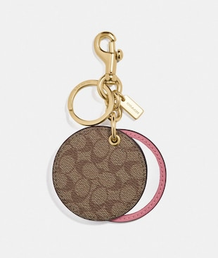 MIRROR BAG CHARM IN SIGNATURE CANVAS