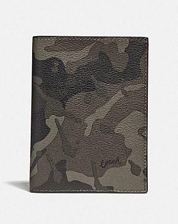passport case with camo print