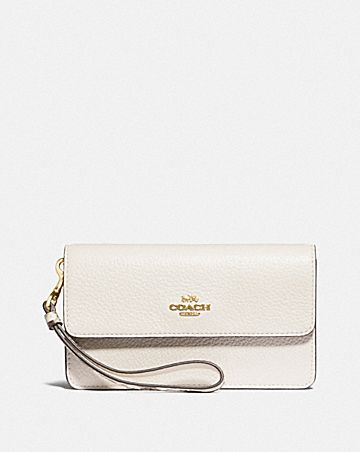 FOLDOVER WRISTLET WITH SIGNATURE CANVAS DETAIL