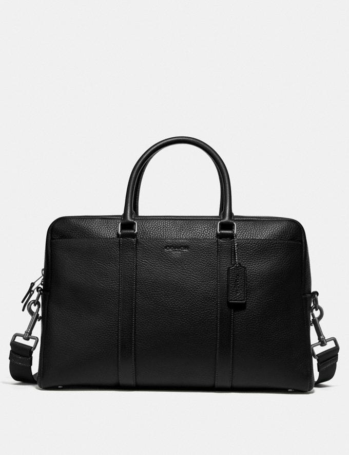 Coach Trekker Carryall Black/Black Antique Nickel