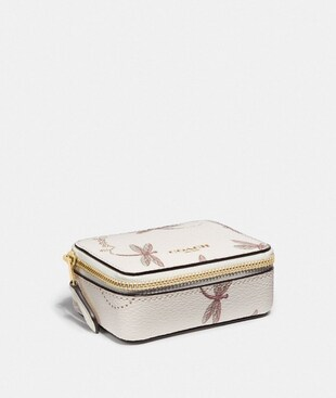 TRIPLE PILL BOX WITH DRAGONFLY PRINT