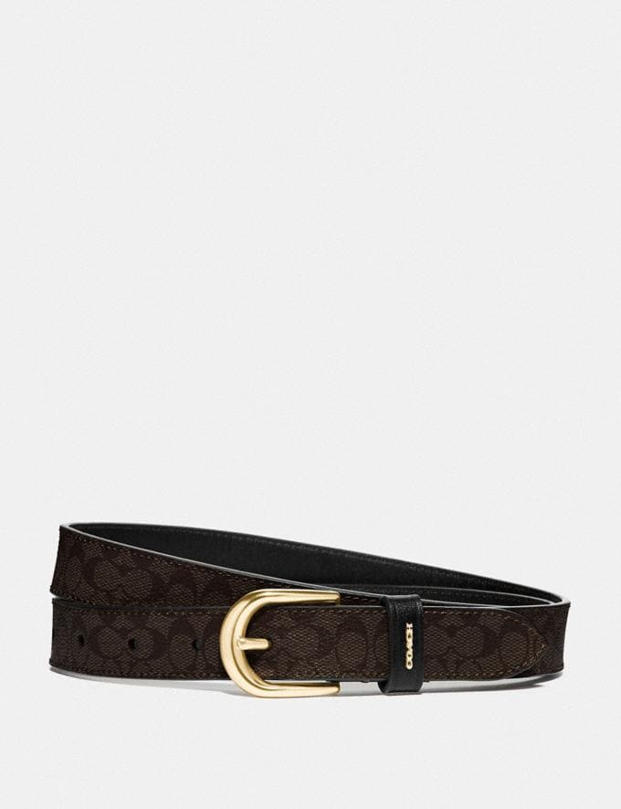 Coach Classic Belt in Signature Canvas Chestnut/Black/Gold