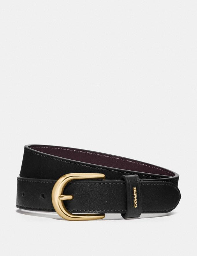 Coach Classic Belt Black/Oxblood/Gold