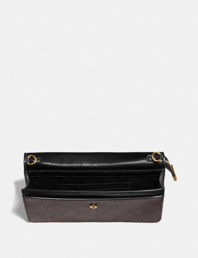 Coach Foldover Wristlet in Signature Canvas Khaki/Chalk/Gold DEFAULT_CATEGORY Alternate View 1