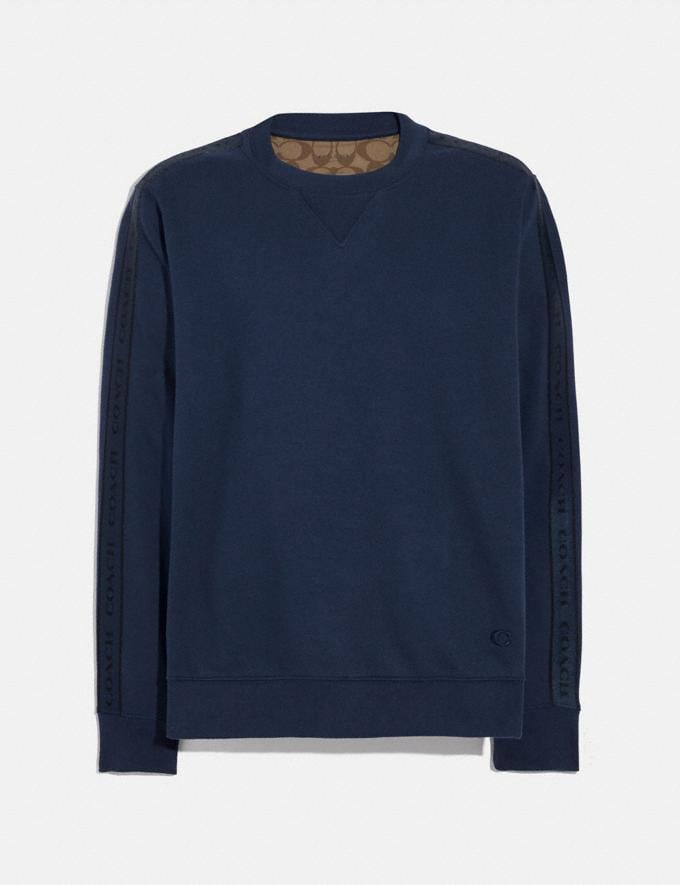 Coach Coach Tape Sweatshirt Navy