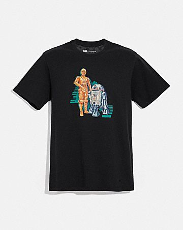star wars x coach c-3po and r2-d2 t-shirt