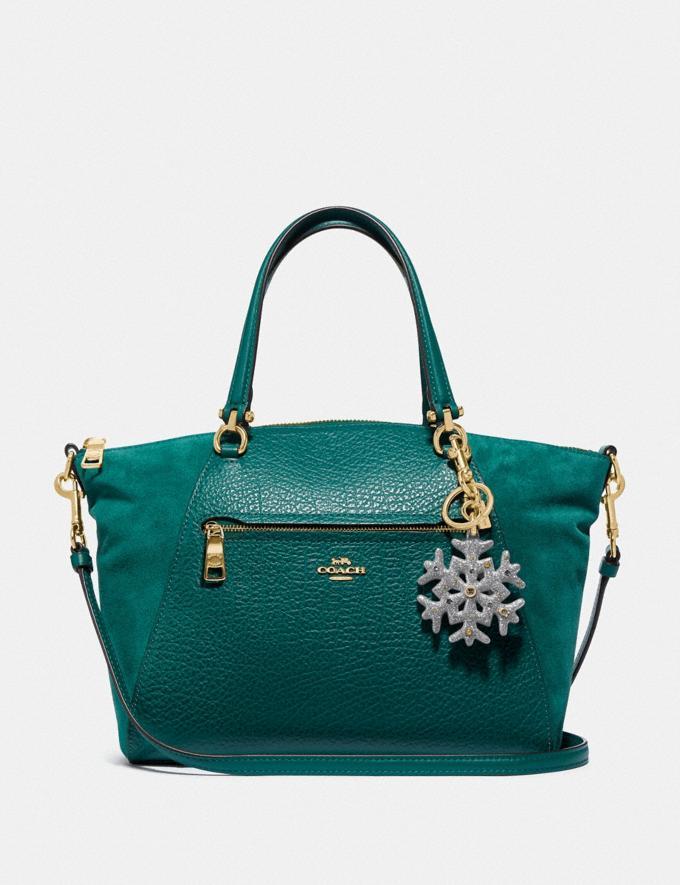 Coach Snowflake Bag Charm Gd/Silver Women Bag Charms & Accessories Alternate View 1