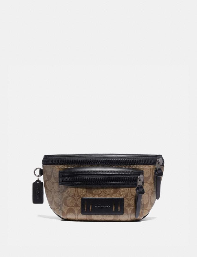 Coach Terrain Belt Bag in Signature Canvas Tan/Black Antique Nickel Under $99 Under $99