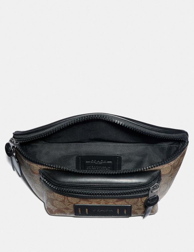 Coach Terrain Belt Bag in Signature Canvas Tan/Black Antique Nickel  Alternate View 1