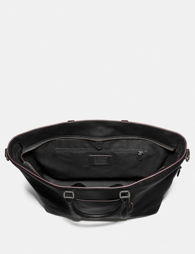 Coach Trekker Tote Black/Black Antique Nickel  Alternate View 1