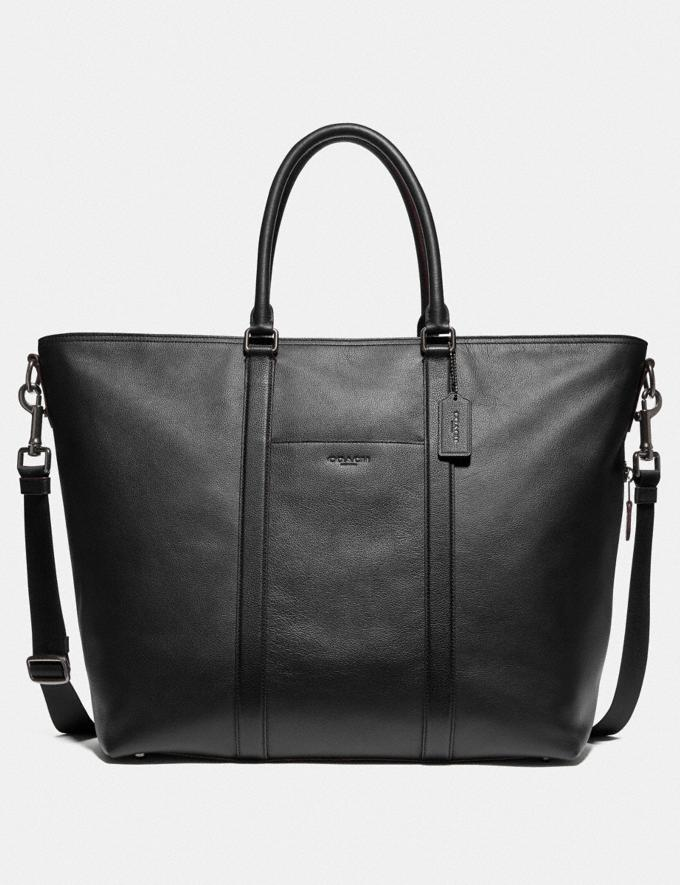 Coach Trekker Tote Black/Black Antique Nickel