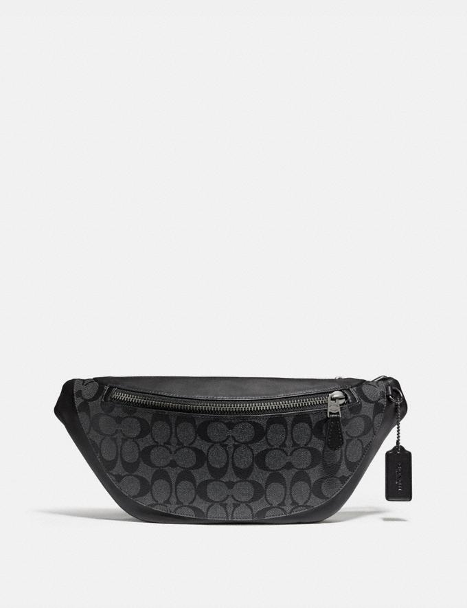 Coach Warren Belt Bag in Signature Canvas Charcoal/Black/Black Antique Nickel Explore Men Explore Men Travel