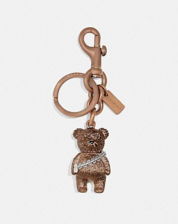 star wars x coach chewbacca bear bag charm