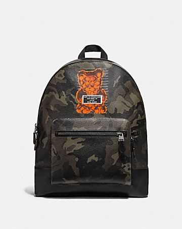 WEST BACKPACK WITH CAMO PRINT AND VANDAL GUMMY
