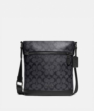 GRAHAM FLAT CROSSBODY IN SIGNATURE CANVAS