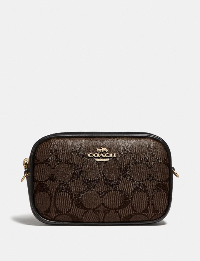 Coach Convertible Belt Bag in Signature Canvas Brown/Black/Gold Spring Shop