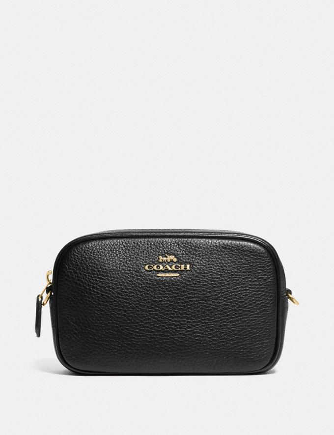 Coach Convertible Belt Bag Black/Gold DEFAULT_CATEGORY
