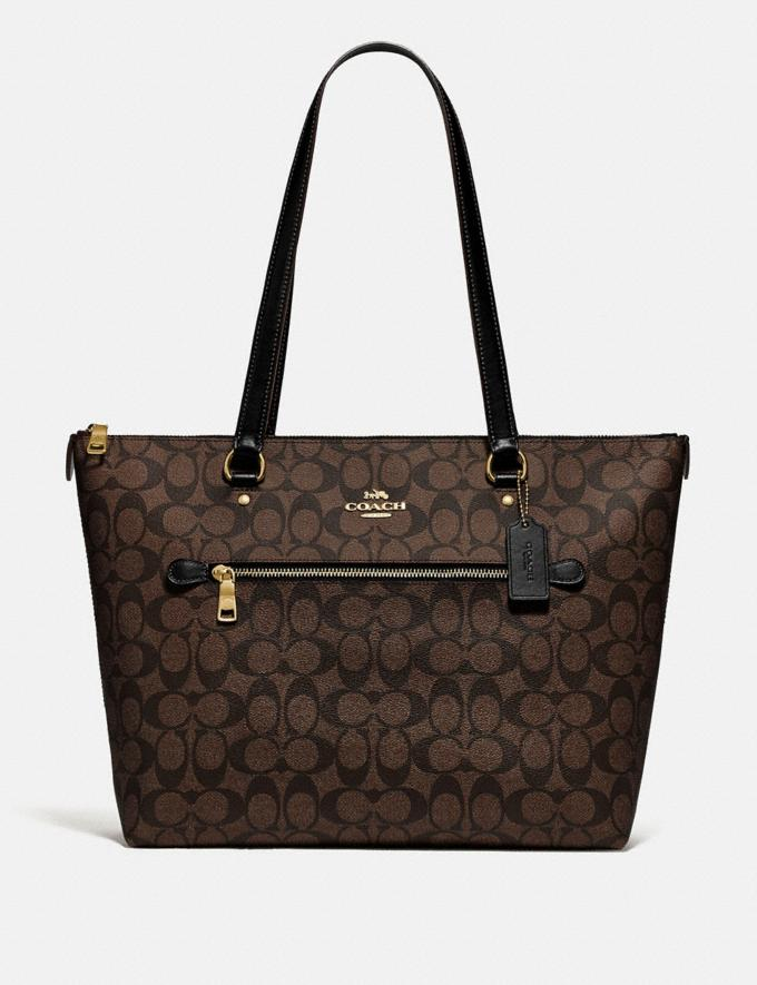 Coach Gallery Tote in Signature Canvas Im/Brown/Black