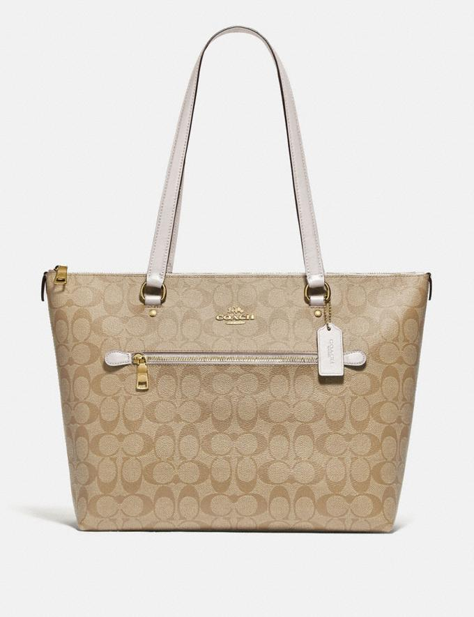 Coach Gallery Tote in Signature Canvas Im/Light Khaki/Chalk Deals Best Deals of the Week