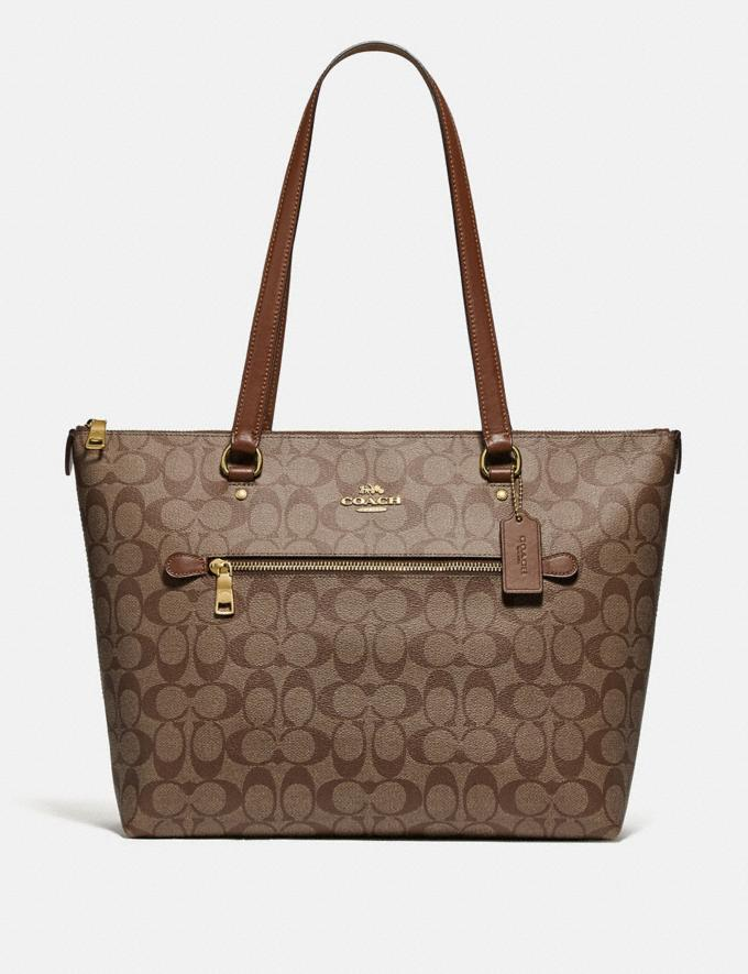 Coach Gallery Tote in Signature Canvas Im/Khaki/Saddle 2 Bags Bags Totes