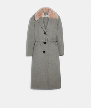 LONG DOUBLE FACE WOOL COAT