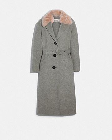 long double face wool coat