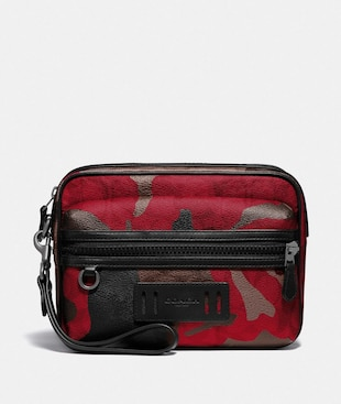 TERRAIN POUCH IN SIGNATURE CANVAS WITH CAMO PRINT