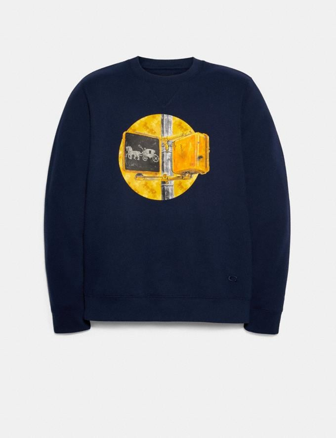 Coach Sweatshirt With Coach Traffic Light Navy