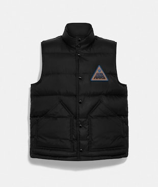 STAR WARS X COACH REVERSIBLE DOWN VEST WITH PATCH