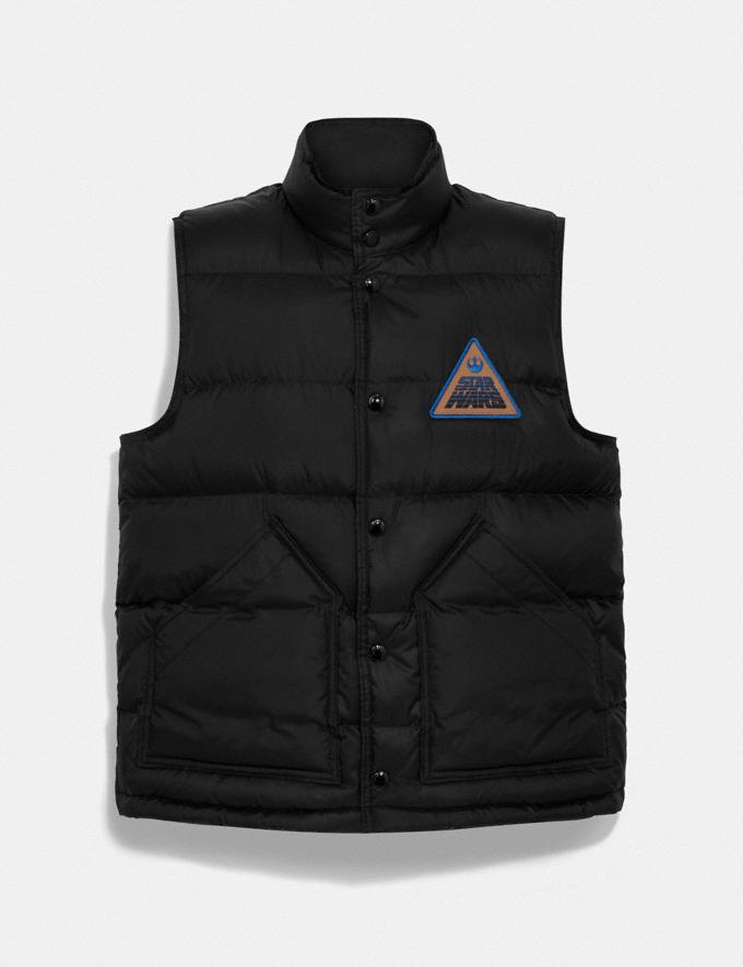 Coach Star Wars X Coach Reversible Down Vest With Patch Black