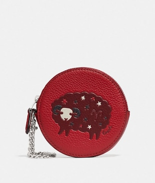 ROUND COIN CASE WITH ARIES
