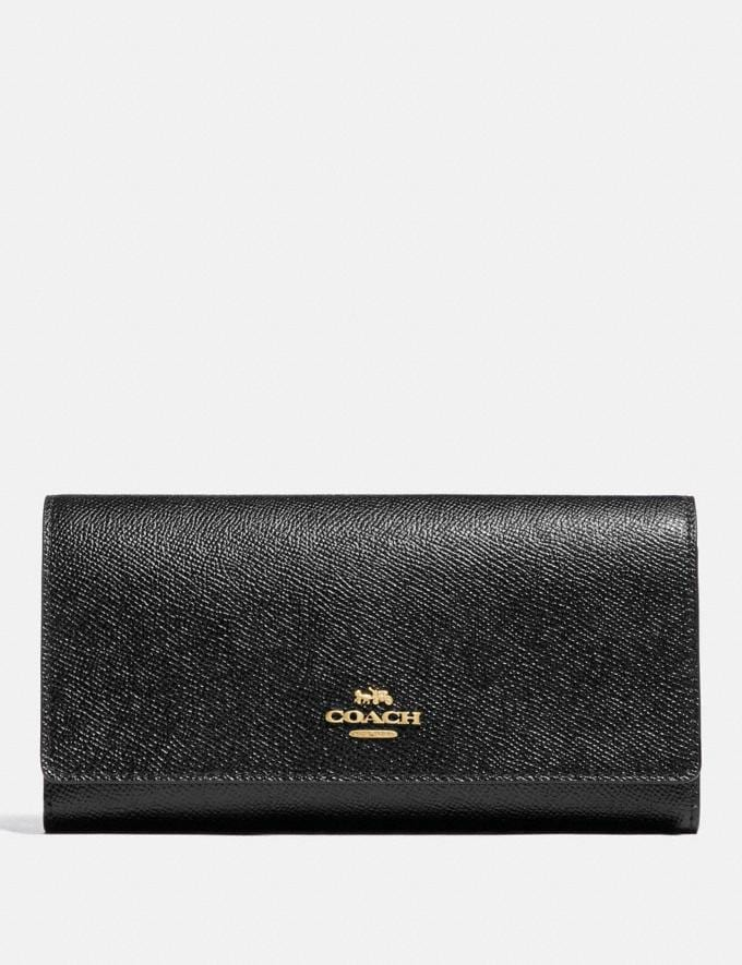 Coach Trifold Wallet Im/Black Explore Women Explore Women Wallets