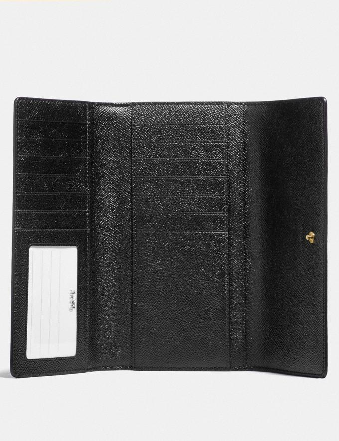 Coach Trifold Wallet Im/Black Explore Women Explore Women Wallets Alternate View 1