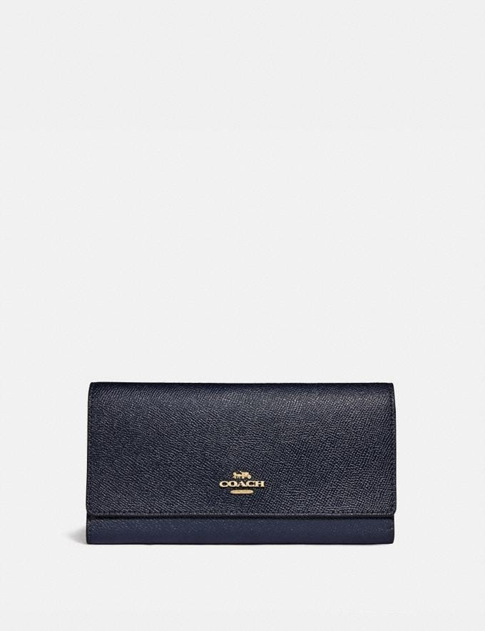 Coach Trifold Wallet Im/Midnight Explore Women Explore Women Wallets