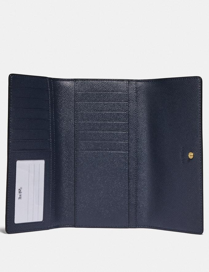 Coach Trifold Wallet Im/Midnight Explore Women Explore Women Wallets Alternate View 1