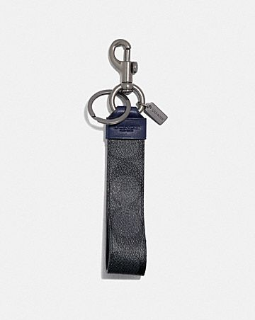 large loop key fob in signature canvas
