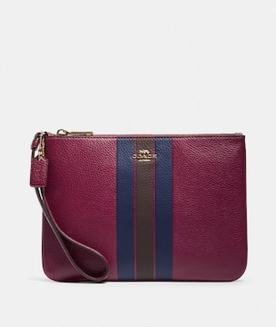 JES GALLERY POUCH WITH VARSITY STRIPE