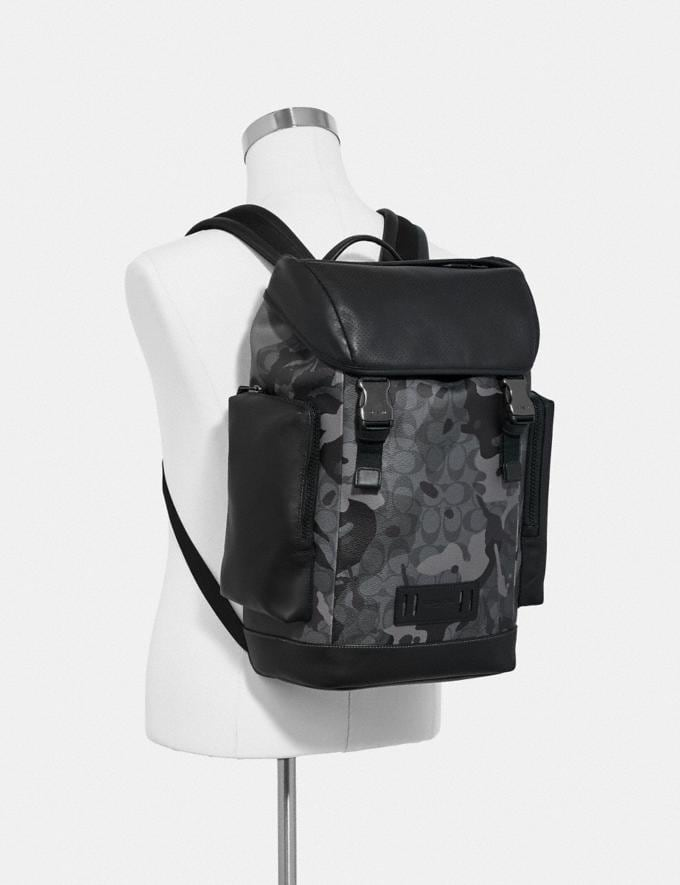 Coach Ranger Backpack in Signature Canvas With Camo Print Qb/Grey Multi Men Bags Alternate View 2