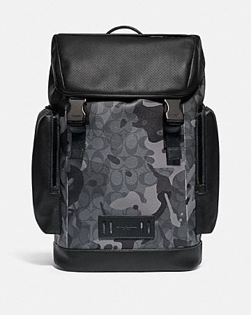 ranger backpack in signature canvas with camo print