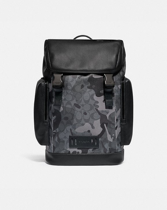 Coach RANGER BACKPACK IN SIGNATURE CANVAS WITH CAMO PRINT