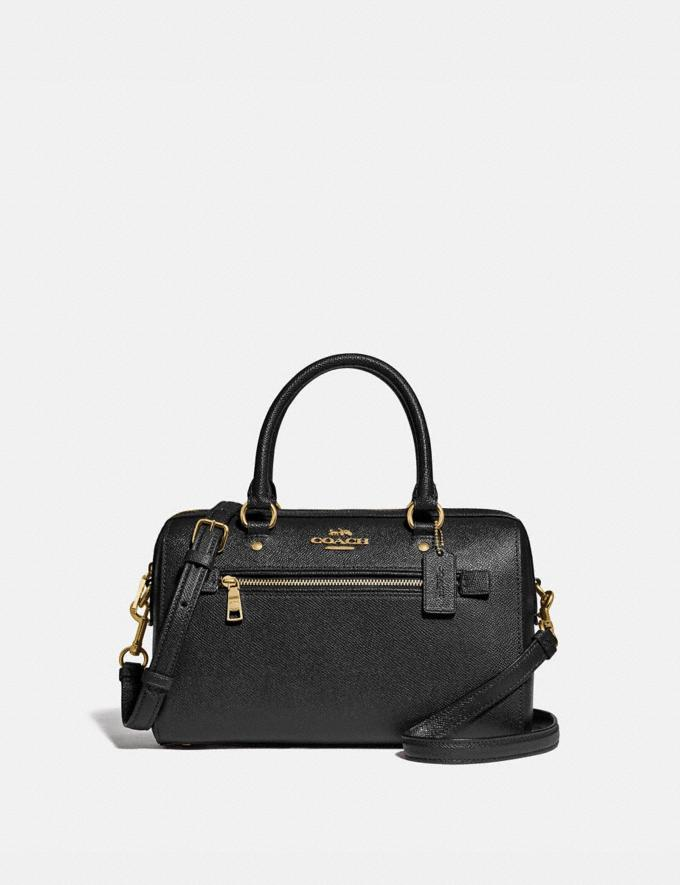 Coach Rowan Satchel Im/Black Women Bags