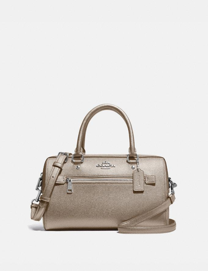 Coach Rowan Satchel Sv/Platinum Clearance 75% Off Handbags