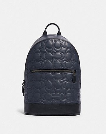 west slim backpack with signature quilting