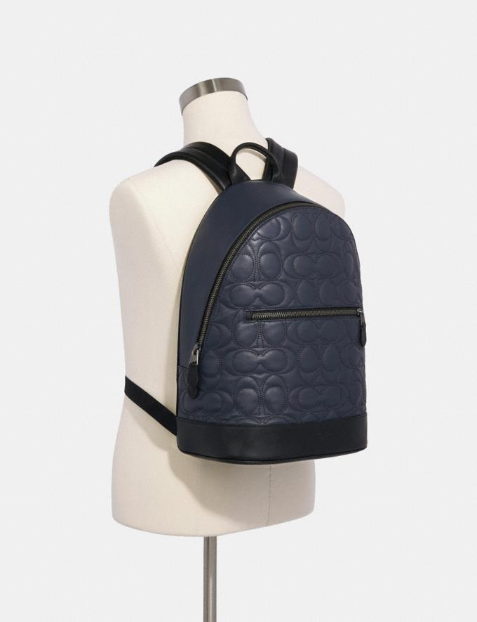 Coach West Slim Backpack With Signature Quilting Qb/Midnight Navy  Alternate View 2