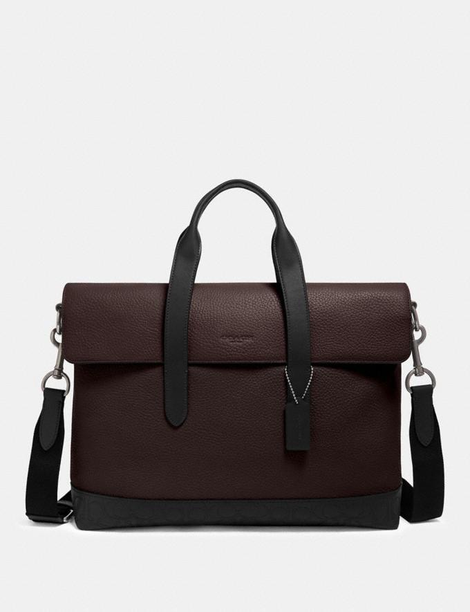 Coach Hamilton Portfolio Brief With Signature Leather Detail Qb/Oxblood Multi DEFAULT_CATEGORY