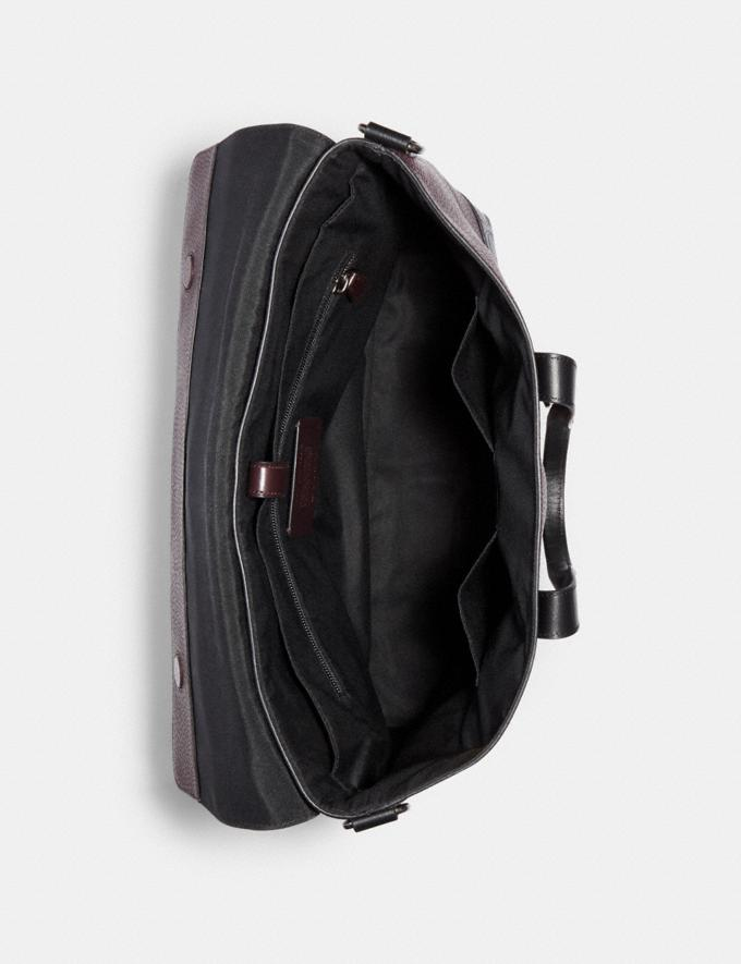 Coach Hamilton Portfolio Brief With Signature Leather Detail Qb/Oxblood Multi DEFAULT_CATEGORY Alternate View 1