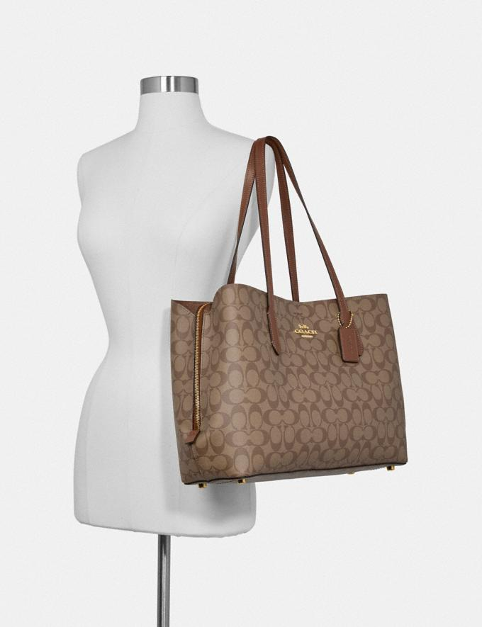 Coach Large Avenue Carryall in Signature Canvas Im/Brown/Black Women Bags Alternate View 2