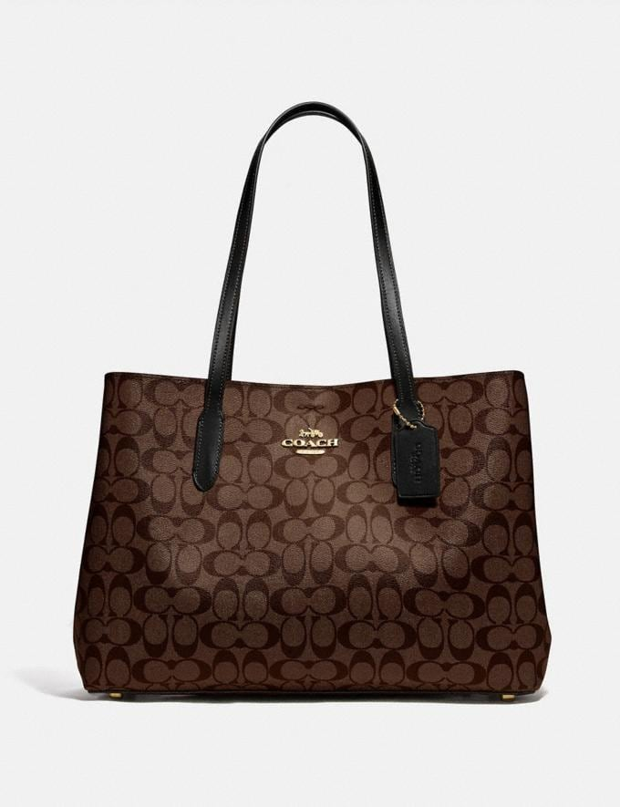 Coach Large Avenue Carryall in Signature Canvas Im/Brown/Black Women Bags